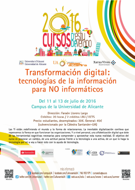 20160623 Curso UA Transformacion Digital 2016